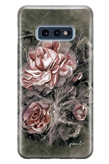 Lopard Samsung Galaxy S10E Kılıf Gülistan Kapak Renkli